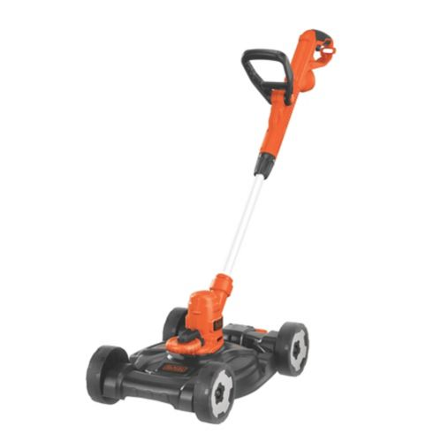 Black & Decker 6.5A 3-in-1 Electric Compact Mower/Grass Trimmer, 12-in