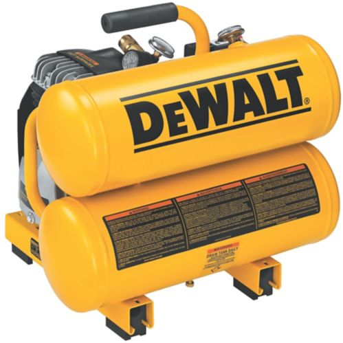 DEWALT 4 Gallon Continuous Hand Carry Air Compressor, 11-hp