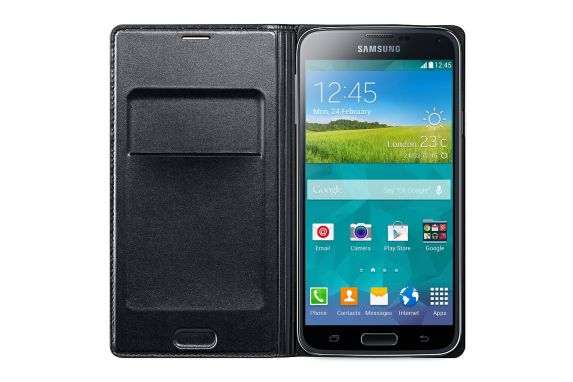 Samsung Galaxy S5 OEM Black Flip Cover Case Product image