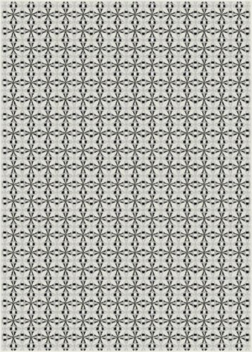Korhani Vintage Motif Rug, White, 5 x 7-ft Product image