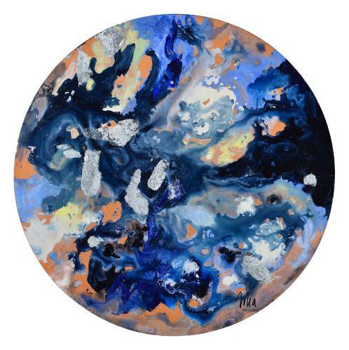 Art mural sur toile Renwil Celestina, 18 x 18 x 1,5 po Image de l'article