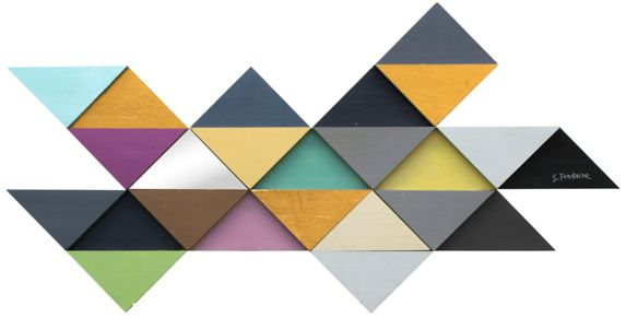 Renwil Tremulous Triangle Wall Art, 56 x 29 x 1.5-in Product image