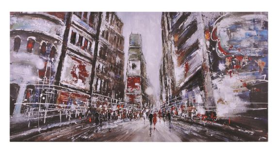Renwil Evening in Times Square Canvas Wall Art, 60 x 30 x 1.5-in