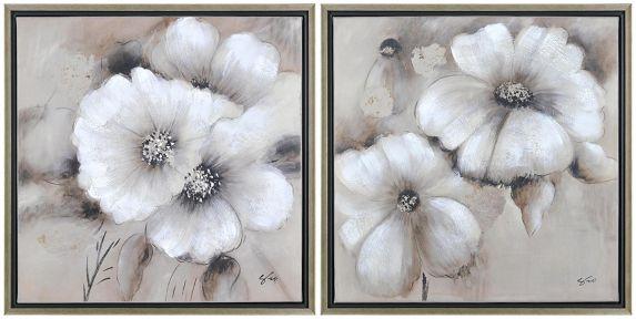 Renwil Fleur Canvas Wall Art, 20 x 20 x 1.5-in