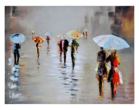 Renwil Rawhide Rain Canvas Wall Art, 47 x 35 x 1.5-in