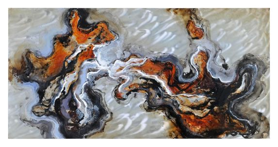 Renwil Blending Waters Wall Art, 60 x 30 x 1.5-in