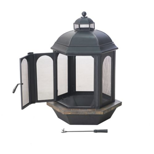 Sunjoy Ava Outdoor Fireplace, 31.5-in Product image