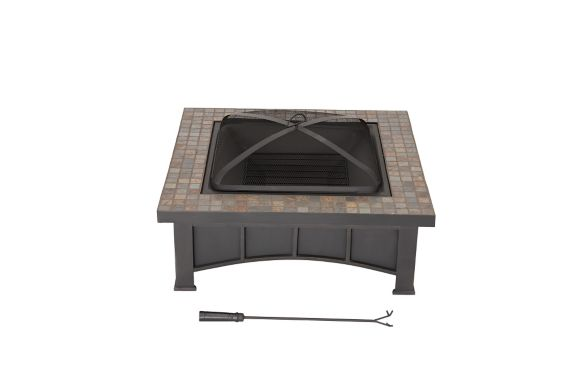Sunjoy Slate Top Square Fire Pit, 34-in Product image