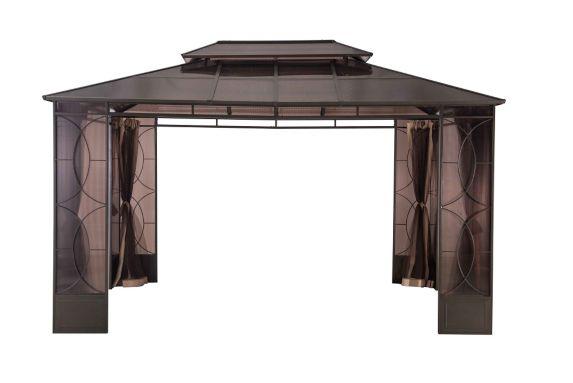 Abri de jardin Sunjoy Reflections, toit en polycarbonate, 168 x 120 x 115 po