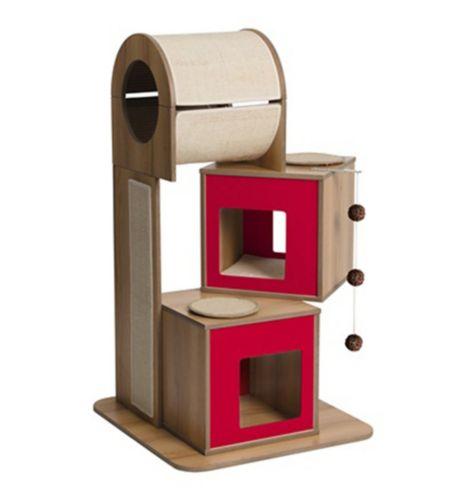 Vesper V-Tower Cat Furniture, Red Product image