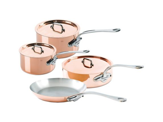 Ensemble de batterie de cuisine Swissmar M'Heritage M'150 en cuivre, 7 pces