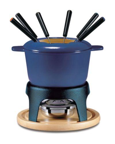 Service à fondue Swissmar Lugano en fonte, noir mat, 11 pces Image de l'article