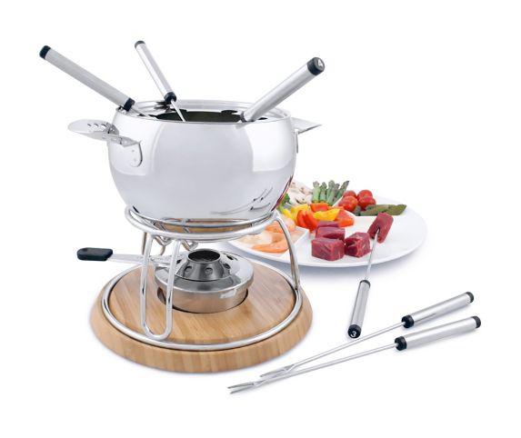 Service à fondue Swissmar Arosa en acier inoxydable, 11 pces