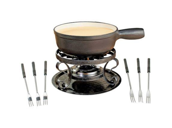 Swissmar Lugano Cast Iron Fondue Set, Black Matte, 9-pc Product image