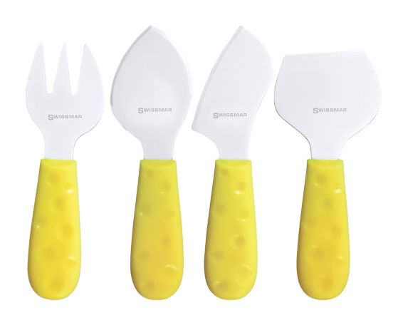 Swissmar Petite Suisse Cheese Knife Set, Soleil, 4-pc