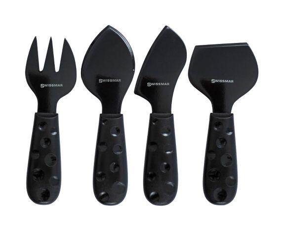 Swissmar Petite Suisse Cheese Knife Set, Noir, 4-pc Product image