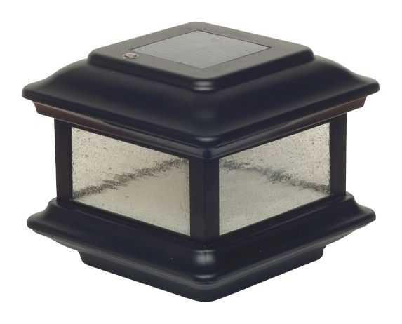 Classy Caps Colonial Post Light, Black, 4-in x 4-in, 2-pk Product image