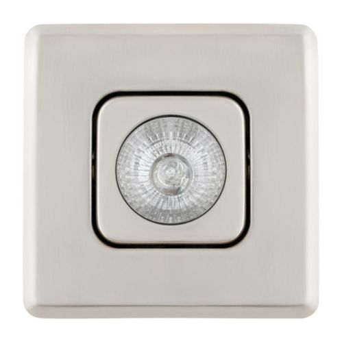 Globe Square Recessed Light, Brushed Nickel, 4-in Product image