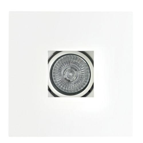 Luminaire carré encastré Globe, blanc, 4 po