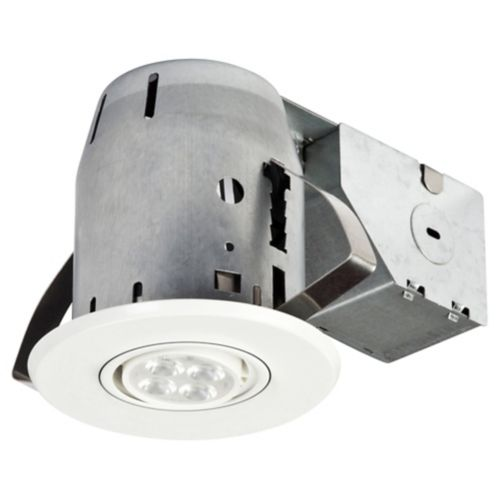 Globe LED Recessed Lights, White, 3-in, 4-pk Product image