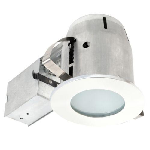 Luminaire encastré à DEL Globe pour salle de bains, verre givré, 4 po