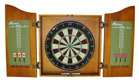 Swiftflyte Dartboard & Cabinet Set