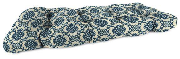 Coussin en polyester filé pour causeuse en osier