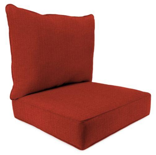 Spun Poly Deep Seat Chair Cushion, 2-pc Product image