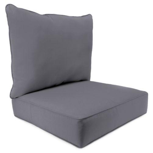 Coussin de fauteuil à siège profond Sunbrella, 2 pces