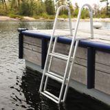 Dock Edge 4-Step Stand Off Aluminum Ladder | Dock Edgenull