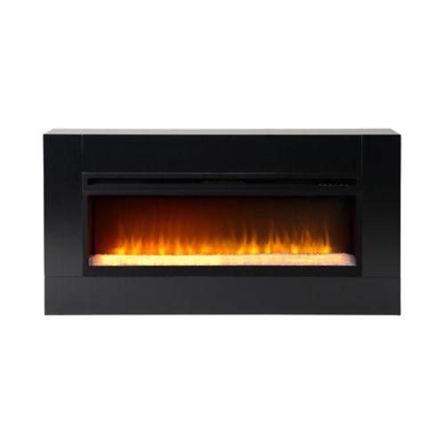 Foyer électrique Flamelux Mantova, noir