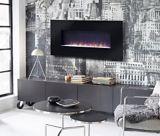 Flamelux Paris Black Wall Mounted Fireplace