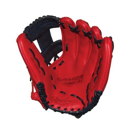 Rawlings Gamer XLE Baseball Glove, Regular, Red, 11.75-in