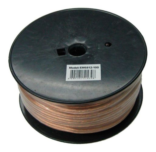 Electronic Master 12 AWG 2-Wire Speaker Cable, 100-ft