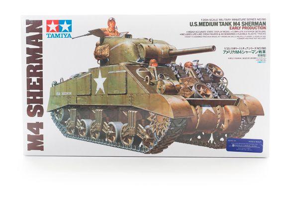 Tamiya 1:35 U.S. Medium Tank M4 Sherman Early Production Model Kit