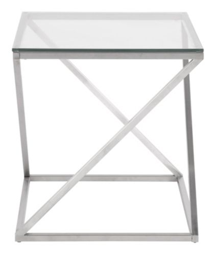 LumiSource 4Z Glass End Table