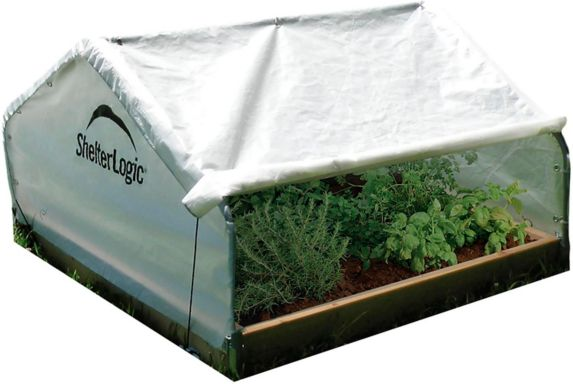 ShelterLogic GrowIT® Raised Bed Greenhouse with Peak Style Cover, 4-ft x 4-ft x 2-ft