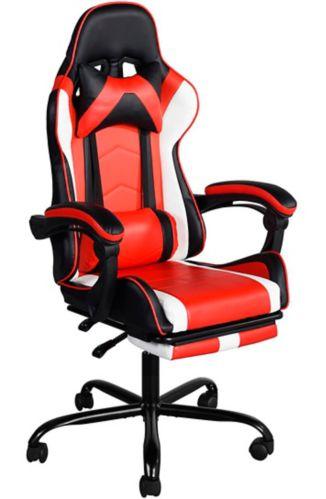 Vantana High Back Office Chair, Black/Red/White