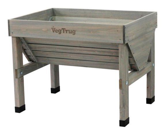 VegTrug Small Classic Raised Garden Bed Planter, Grey
