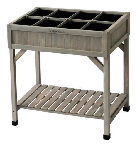 VegTrug Raised Herb Garden Bed Planter, Grey