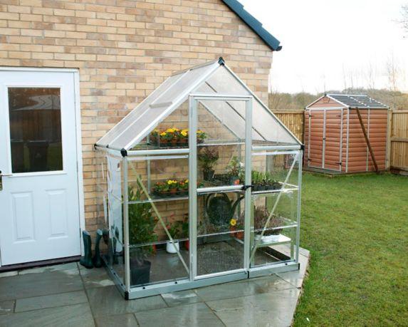 Palram Hybrid Greenhouse, Silver, 6-ft x 4-ft