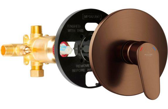 PULSE ShowerSpas Tru-Temp Pressure Balance Valve & Trim Kit, Oil Rubbed Bronze