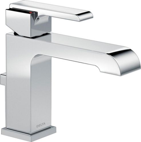 Delta Ara 1-Handle Bathroom Faucet with Metal Pop-Up, Chrome