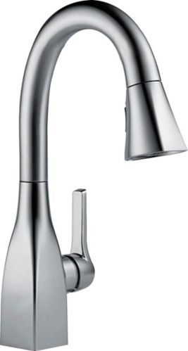 Delta Mateo 1-Handle Pull-Down Bar/Prep Faucet, Arctic Stainless