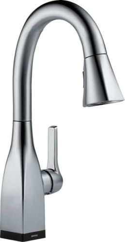 Delta Mateo 1-Handle Bar/Prep Faucet with Touch2O, Arctic Stainless