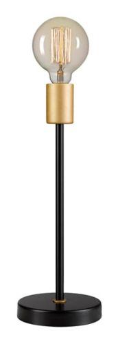Globe Electric Remington Table Lamp, Black, 15-in