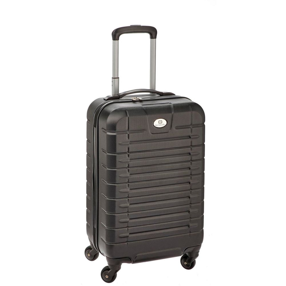 Outbound Hardside Carry-On Spinner, Black & Blue, 20-in