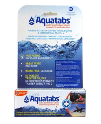 Comprimés de purification d'eau Aquatabs, paq. 50 Image de l'article