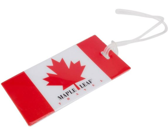Maple Leaf Canadian Flag Luggage ID Tag Product image