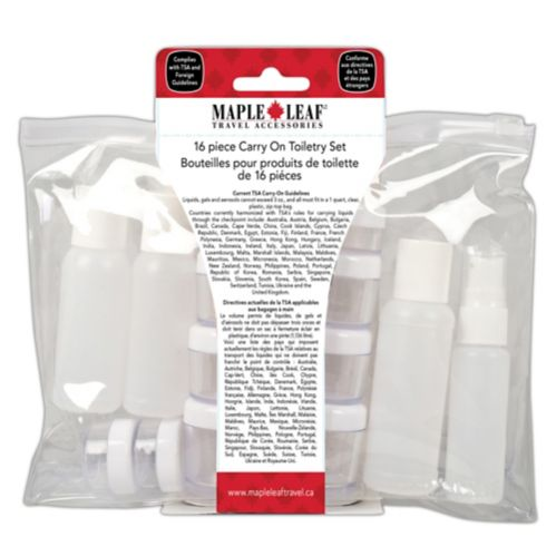 Travel Size Toiletry Bottle Set, 16-pc